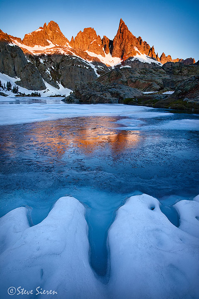 Jaws of Ice  The Minarets reflecting in an alpine lake in the Ansel Adams Wilderness  Eastern Sierra Nevada