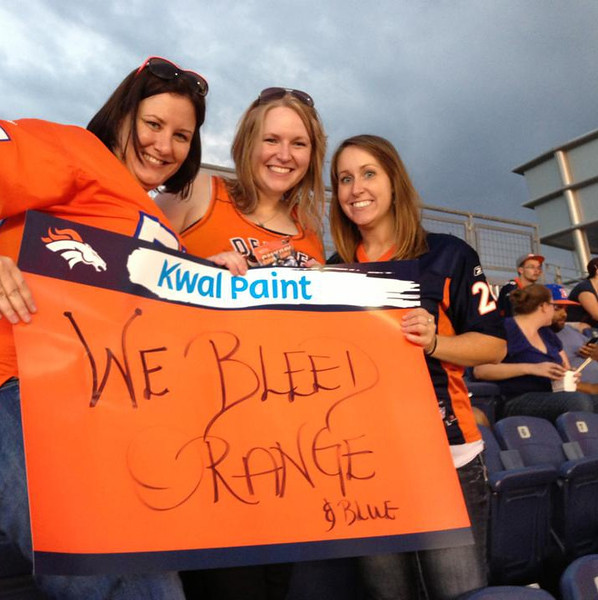 . Bleed Orange and Blue. Jaymie. Photo by A nice person at the game