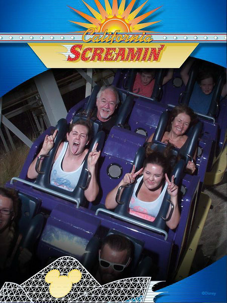 This is probably the 3rd or 4th time on this really fun roller coaster.  California Screamin'.
