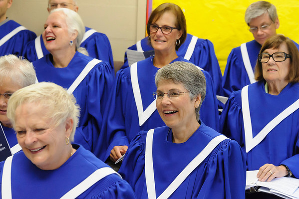 New Choir Robes/60th Anniversary Banner Processional 9-8-2013