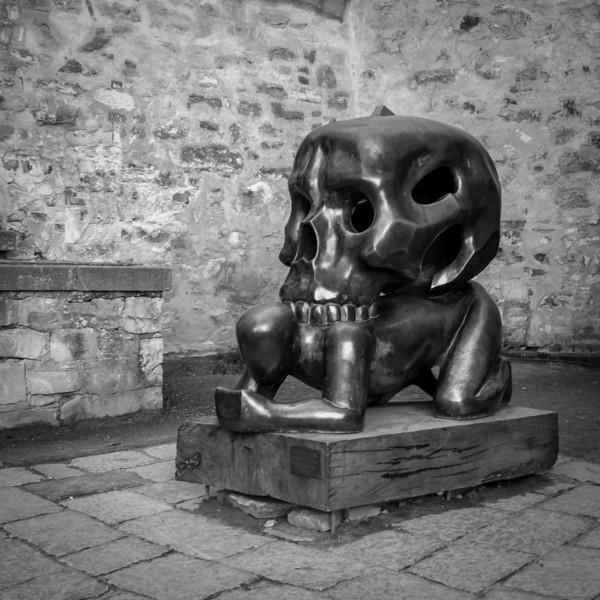 Scultpure outside Daliborka Tower - Prague Castle