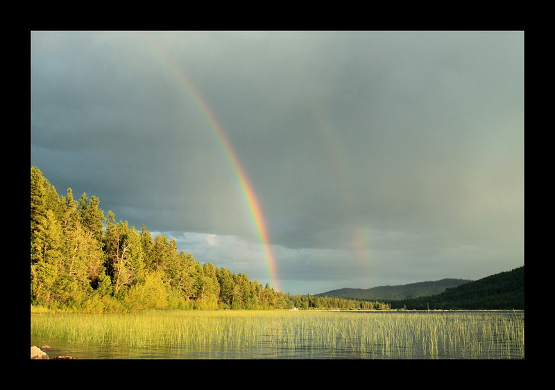 Rainbow Over Lake Marry Ronan.
