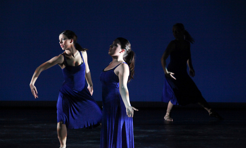 The EIU Dancers perform during a dress rehearsal of The Heart Speaks in the recital hall at the Doudna Fine Arts Center on the campus of Eastern Illinois University on Wednesday, March 2, 2011.  Under the direction of Antoine Thomas.  Sponsored by the Kinesiology and Sports Studies Department and Theatre Arts Department. (Jay Grabiec)
