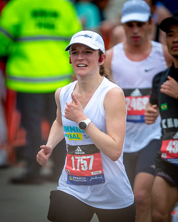 Tina Muir -- 2019 Boston Marathon