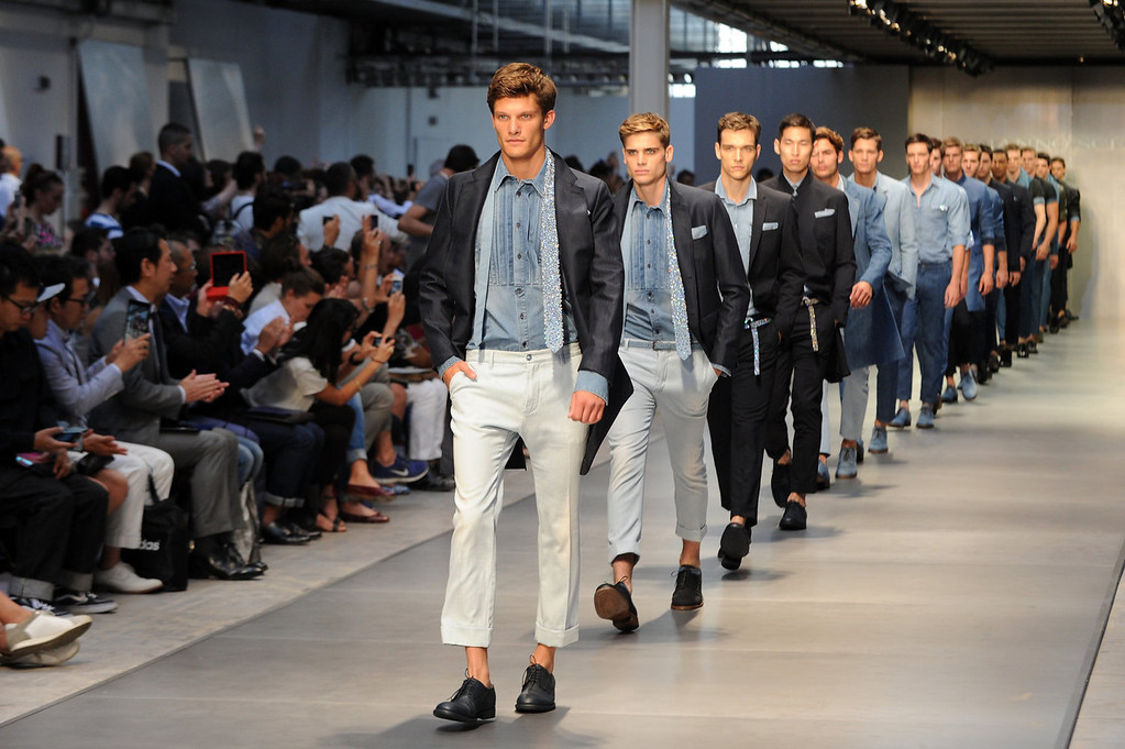 . Models walk the runway at the Ermanno Scervino show during Milan Menswear Fashion Week Spring Summer 2014 on June 25, 2013 in Milan, Italy.  (Photo by Pier Marco Tacca/Getty Images)