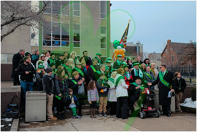 2017 Cleveland Saint Patrick's Day Parade - Singing of the National Anthems and Step-off