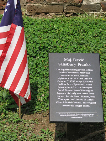 Major David Salisbury Franks Grave