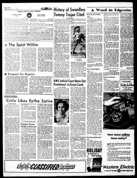 Daily Trojan, Vol. 40, No. 19, October 07, 1948