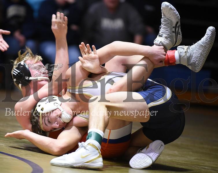 97813 Butler vs Armstrong wrestling match at Butler Intermediate High School