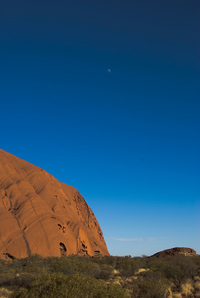 Uluru and Moon 1 - Northern Territory, Australia