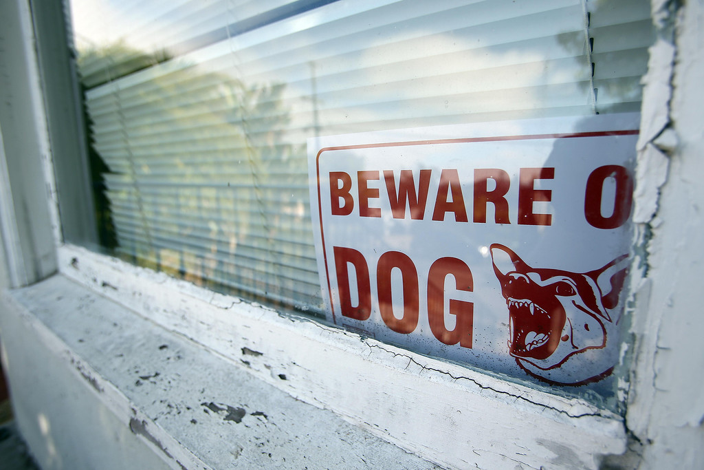 . A sign is seen on the front window of homicide victim Judy Salamon\'s home on Best Avenue in Oakland, Calif., on Thursday, July 25, 2013. Salamon, 66, was shot and killed Wednesday afternoon while driving a few blocks from her home on Fern Street in Oakland\'s Fairfax district, marking the city\'s 56th homicide of the year. (Jane Tyska/Bay Area News Group)