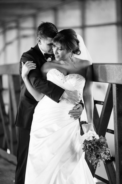 Newlywed, Bridal Party and Family portraits at at Prairie Street Brewhouse and nearby downtown Rockford. Wedding photographer – Ryan Davis Photography – Rockford, Illinois.