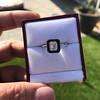 1.19ct Vintage Emerald Cut Diamond Onyx Ring, GIA E VS2 23