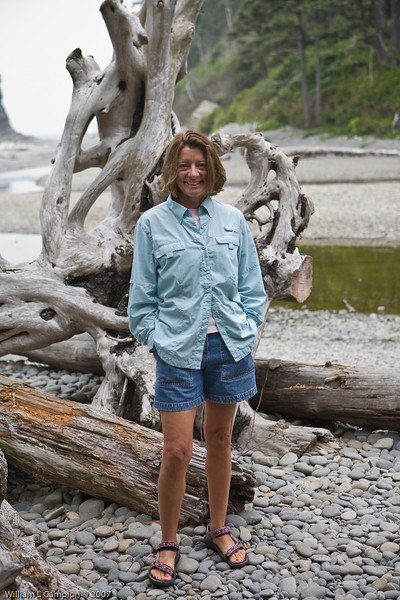 Melinda at Ruby Beach, North West Pacific Ocean