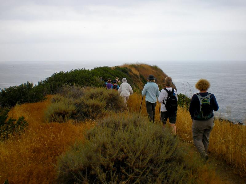 "Traversing the ridge to the ""land's end""."
