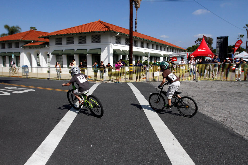 . Riders participate in the public race portion of the Redlands Bicycle Classic on Saturday, April 5, 2014 in Redlands, Ca. (Photo by Micah Escamilla for the Redlands Daily Facts)
