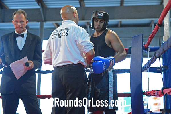 Bout #3  Richard Perry Jr. (King's Gym) vs Ali Hassan Almoslim (East Dayton Boxing Club)  178 Lb. Novice