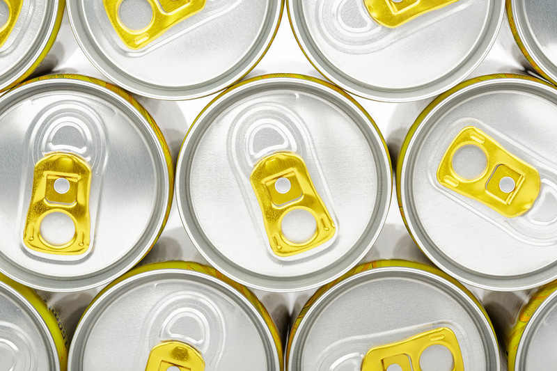 Gold Ring Pulls on Aluminium Cans