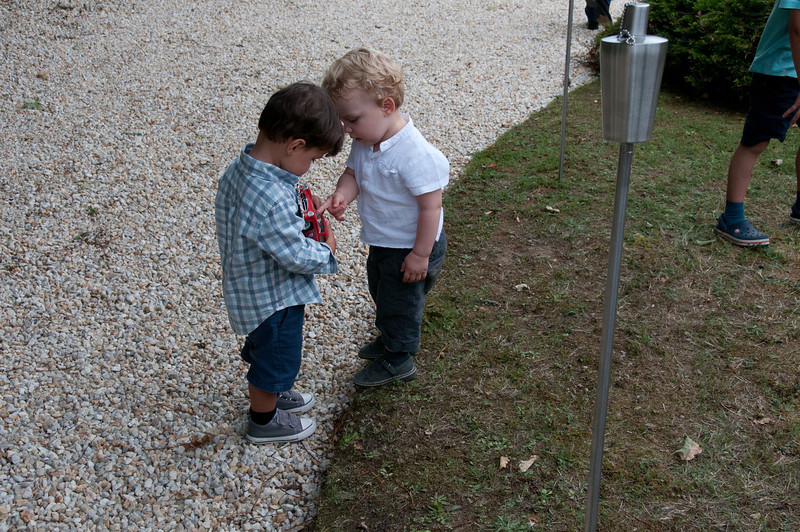 As usual, the children always catch my eye.  The two little boys enjoyed and played with the model car alllllll day.
