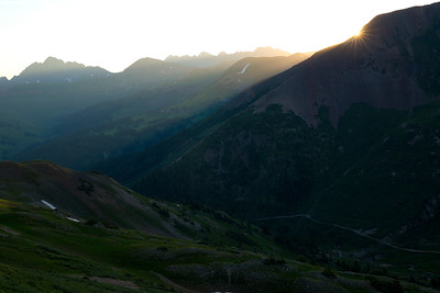 Sunrise over the Elk Range, CO