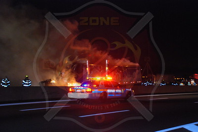 Syosset F.D. Tractor Trailer MVA w/ Fire L.I.E. Between Exits 42 and 43 12/8/09