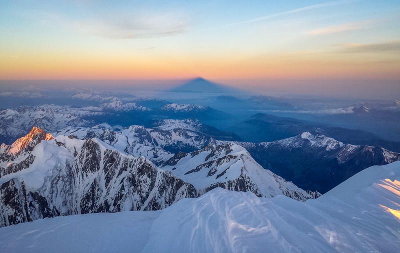 Mont Blanc Summit Shadow