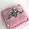 1.99ctw Vintage Old Mine Cut Bypass Ring 4