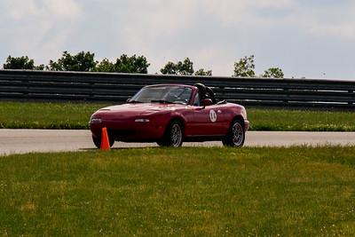 2020 SCCA TNiA June Pitt Race Red 14 Miata