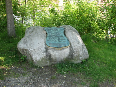 Commemorative Boulder Near Old Fort Western
