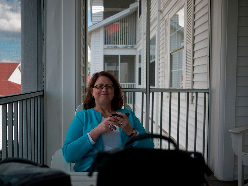 We spent a lot of time in the screen porch.