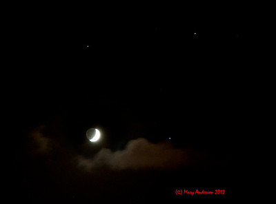 Moon, Mars, Saturn and Spica 8/21/12