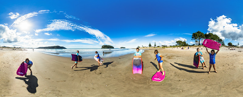 Fun at Whangamata Beach