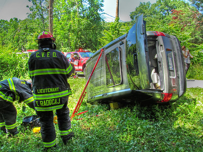 6-19-13 Mutual-Aid MVA Rollover with Extrication, Garrison