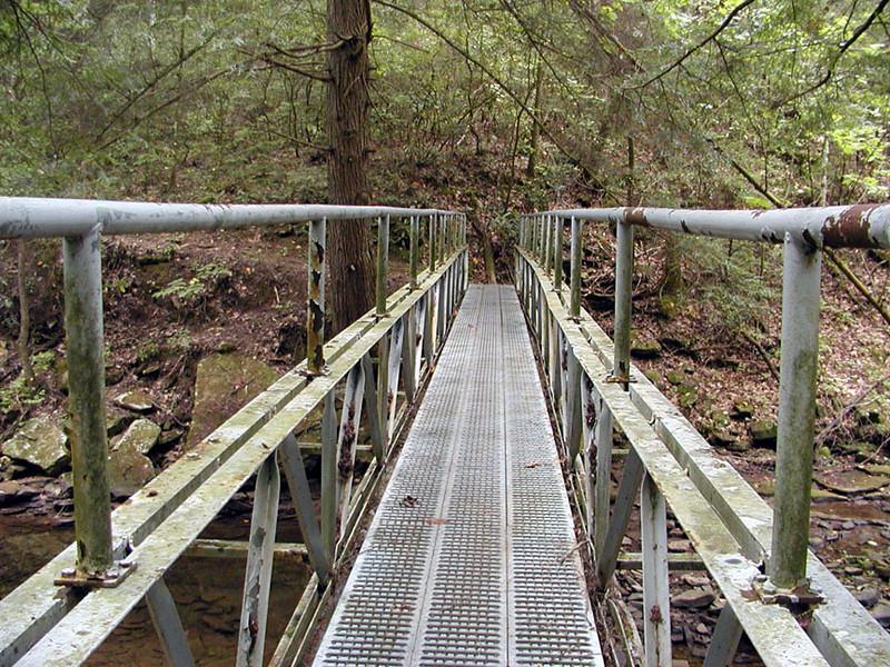 First metal bridge Piney River Trail  TN 9/13/08