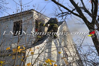 North Bellmore F.D. House Fire 100 Laux Place 11-19-11