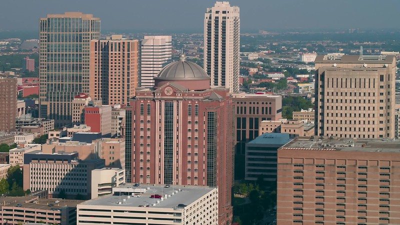Aerial drone footage Harris County Civil Court