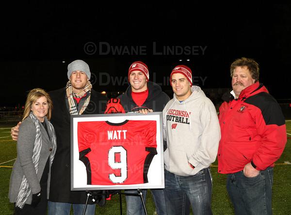 JJ Watt HS Jersey Retirement - 10-25-13