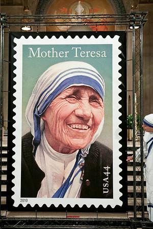 Mother Teresa Stamp Dedication