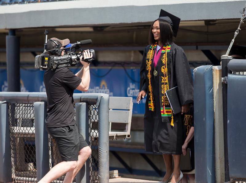 Calvin University - Calvin holds it's 2020 and 2021 graduation ceremonies at LMCU Ballpark Saturday, May 22, 2021