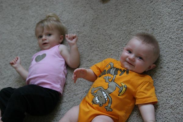 Jonah & cousin Katarina - May 31 & June 1, 2007