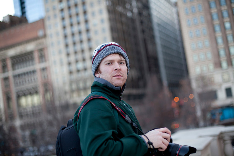Colin McAuliffe at Millenium Park in Chicago, Illinois on February 19, 2011.  (Jay Grabiec)