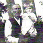 William Long Hunter and Granddaughter, Edna Hunter