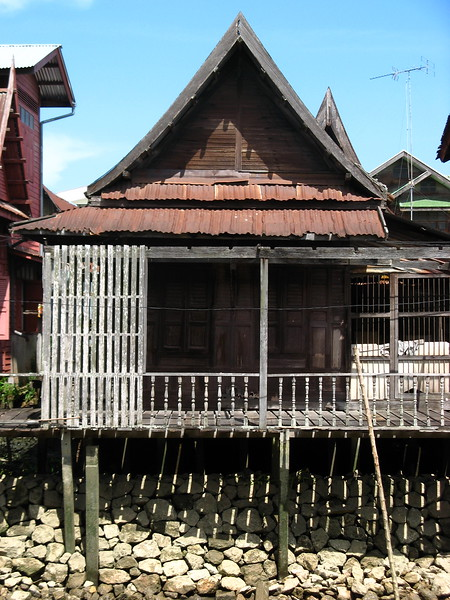An old house that hasn't been restored.