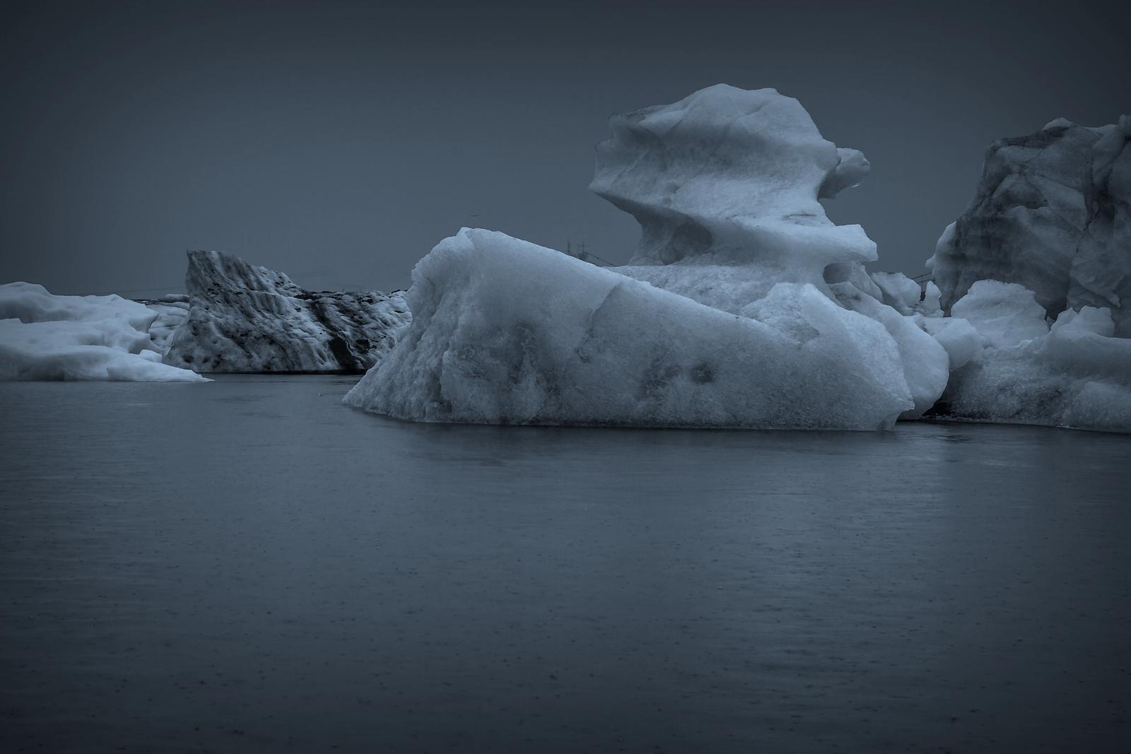 冰岛冰川泻湖(Glacier Lagoon), 湖面上冰川