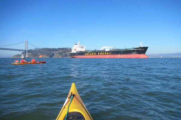 SF Bay Kayak to Yerba Buena Island: Jan 24, 2015