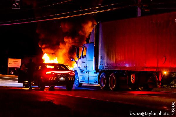 Multiple vehicle Fire, Coldbrook, July 11, 2019