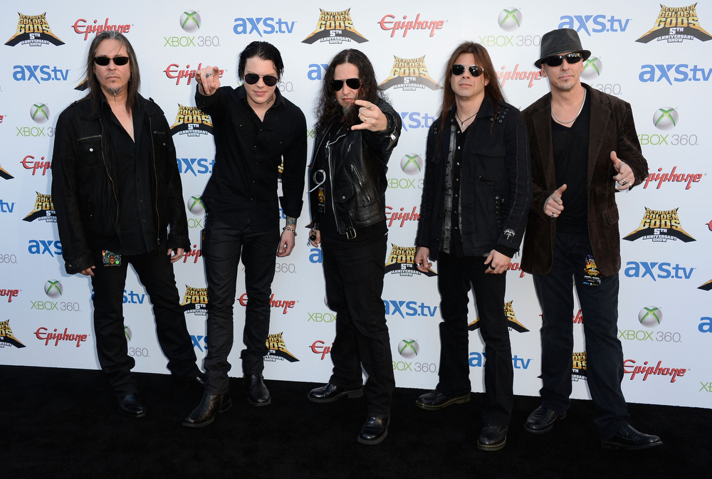 . Band Queensryche arrives at the 5th Annual Revolver Golden Gods Award Show  at Club Nokia on May 2, 2013 in Los Angeles, California.  (Photo by Frazer Harrison/Getty Images)