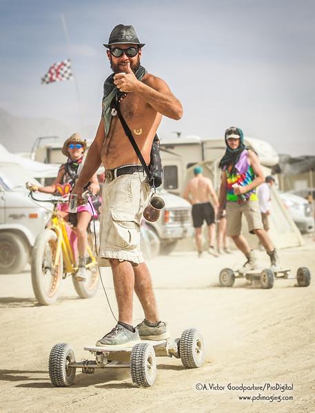 Electric skateboard.