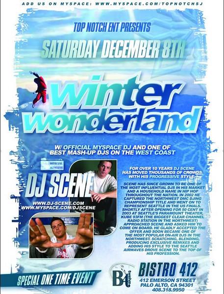 """Top Notch Entertainment Presents """"Winter Wonderland"""" @ Bistro 412 12.8.07"""