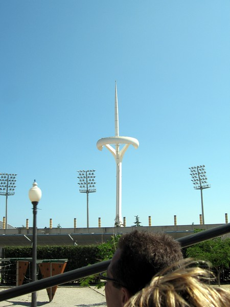 Montjuic Communications Tower, built to transmit coverage of the 1992 Summer Olympic Games, and also a giant sundial